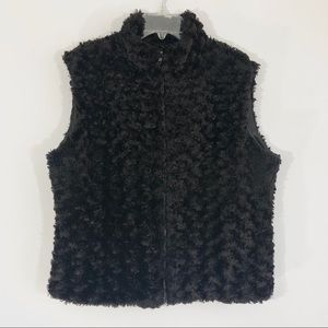 Faux Fur Sleeveless Jacket